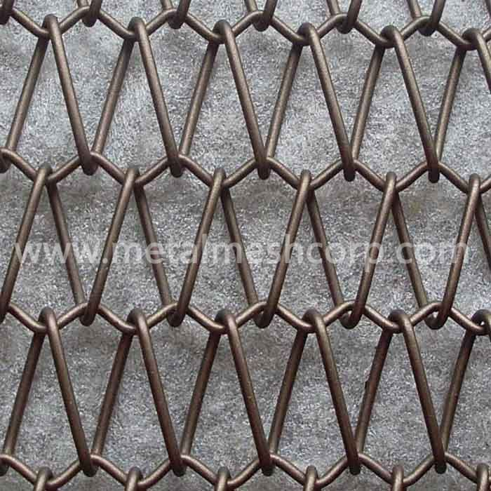 Architectural Decorative Spiral Chain link Mesh