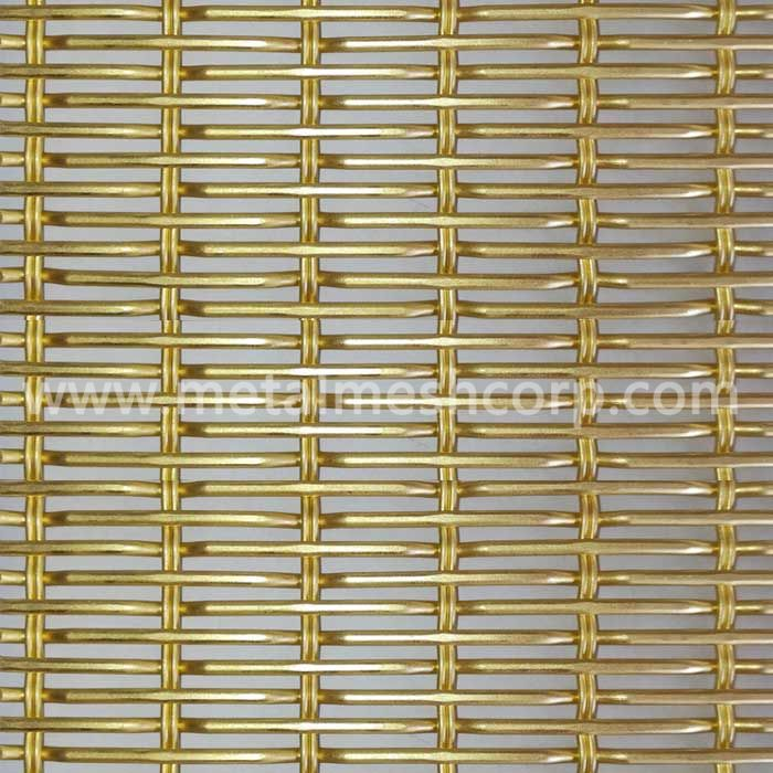 Golden Color Decorative Woven Mesh Fabric