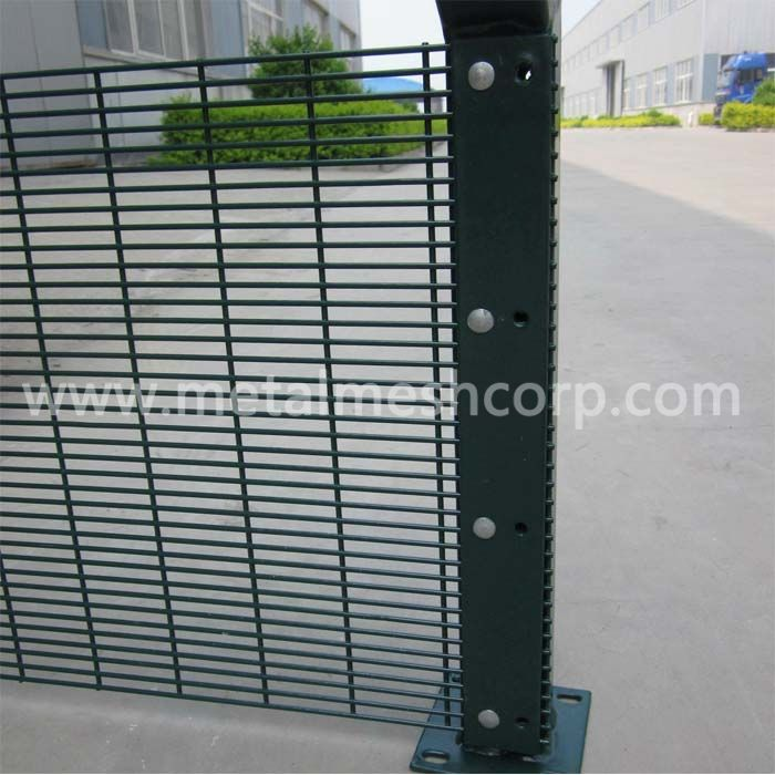 Welded 358 Mesh Fence Installation
