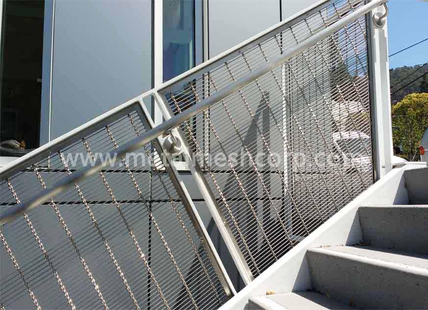 Malla de alambre de cable arquitectónico para barandillas