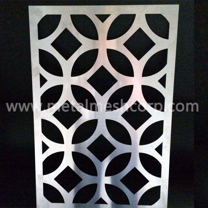Round Pattern Laser Cut Aluminum Sheet