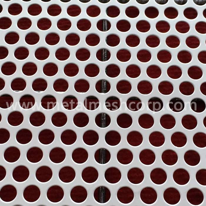 60 Degree Round Hole Perforated Metal